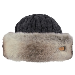 Barts Fur Cable Bandhat - Heather Brown