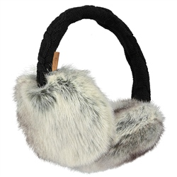 Barts Fur Earmuffs - Heather Brown