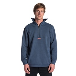 Rip Curl Organic Ted 1/4 Zipped Sweatshirt - Blue