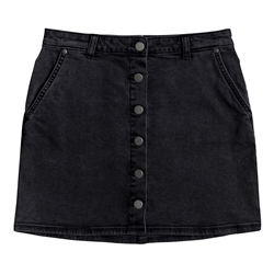Roxy Wild Young Denim Skirt - Anthracite