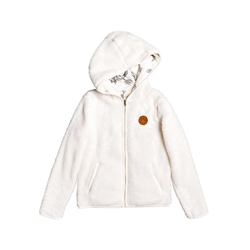 Roxy Silver Water Zipped Hoody - White