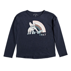 Roxy Only Time A T-Shirt - Indigo