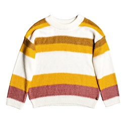 Roxy Trip 2 Stripe Jumper - White