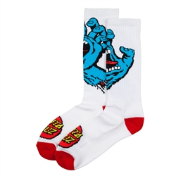 Santa Cruz Screaming Hand Socks - White