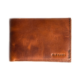 Rip Curl Handcrafted Leather Wallet - Brown
