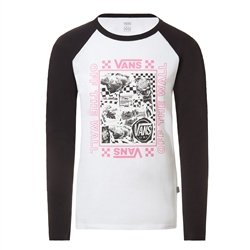 Vans Sting Raglan DIY T-Shirt - White & Black