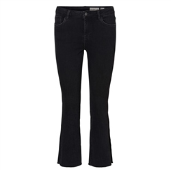 Vero Moda Sheila MR Slim Kick Flare Jeans - Black