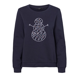 Vero Moda Xmas Pretty Sweatshirt - Night Sky