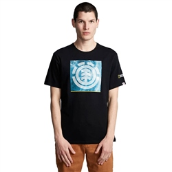Element National Geographic Solvent Icon T-Shirt - Flint Black