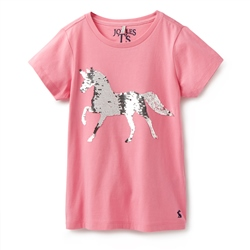 Joules Astra T-Shirt - Pink Horse