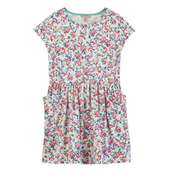 Joules Jude Dress - White Ditsy