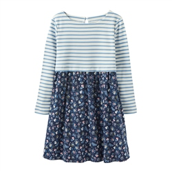 Joules Layla Jersey Dress - Navy Ditsy