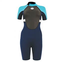 Alder Girls Impact 3/2mm Shorty Wetsuit - Blue