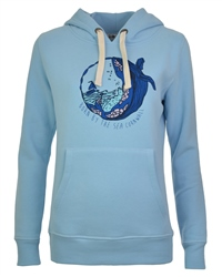 Born by the Sea Deluxe Womens Hoody - Blue