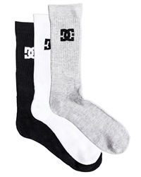 DC Shoes SPP 3 Pack Mens Socks - Assorted