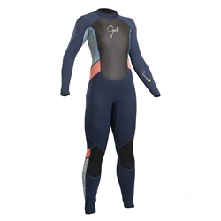 Gul Girls Response Back Zip 3/2mm Wetsuit - Multi