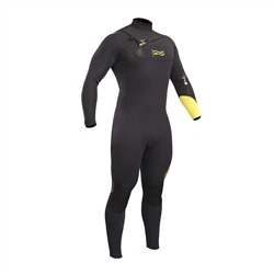 Gul Mens Response Chest Zip 3/2mm Wetsuit - Black & Yellow