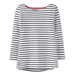 Joules Womens Harbour T-Shirt - Cream & Navy