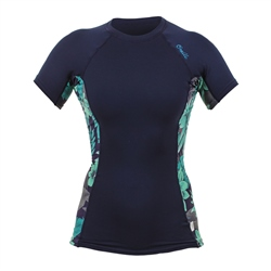 O'Neill Side Print Rash Vest - Blue