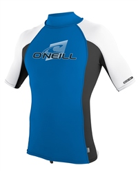 O'Neill Boys Skins Turtle Rash Vest - Blue & White