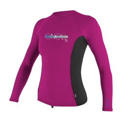 O'Neill Girls Skins Rash Vest - Purple