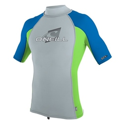 O'Neill Mens Skins Turtle Rash Vest - Grey & Blue