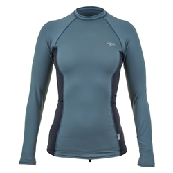 O'Neill Skins Long Sleeved Rash Vest - Grey