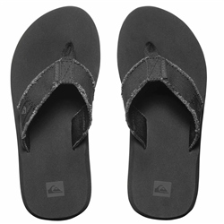 Quiksilver Boys Monkey Abyss Flip Flops - Black & Brown