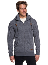 Quiksilver Zipped Keller Hoody - Dark Grey Heather