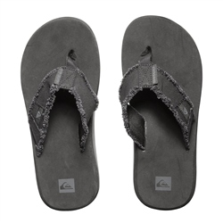 Quiksilver Men's Monkey Abyss Flip Flops - Black & Brown