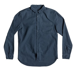 Quiksilver Long Sleeved Time Box Shirt - Blue