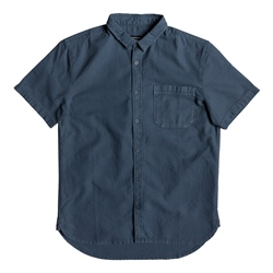Quiksilver Short Sleeved Time Box Shirt - Blue