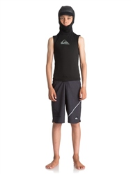 Quiksilver Boys Syncro+ Hooded Rash Vest - Black
