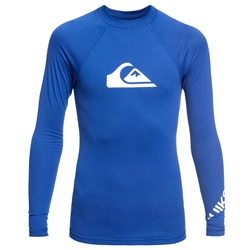 Quiksilver Long Sleeved All Time Rash Vest - Blue