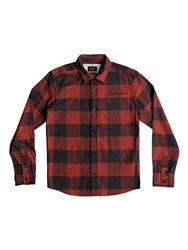 Quiksilver Boys Motherfly Shirt - Barn Red