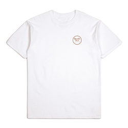 Brixton Wheeler II T-Shirt - White & Bronze