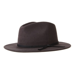 Brixton Coleman Fedora Hat - Washed Black