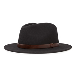 Brixton Messer Fedora Hat - Black