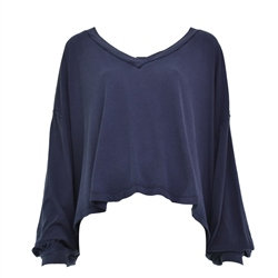 Free People Buffy Top - Navy