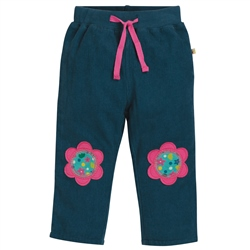 Frugi Little Cord Patch Trousers - Flower