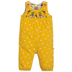 Frugi Willow Embroidered Dungarees - Spot