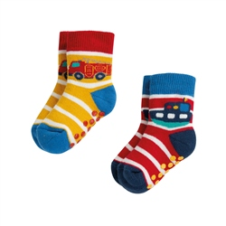 Frugi Grippy 2 Pack Socks - Multi