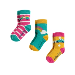 Frugi Girls Little 3 Pack Socks - Multi