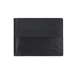 Quiksilver Desert Trucker Leather Wallet - Black