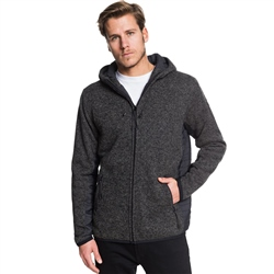 Quiksilver Keller Puff Hooded Zipped Fleece - Grey