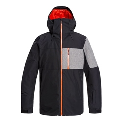 Quiksilver Mens Mission Plus Tech Jacket - Black