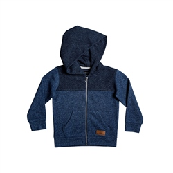 Quiksilver Keller Block Zipped Hoody - Blue Heather