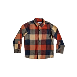 Quiksilver Motherfly Flannel Shirt - Burnt Brick