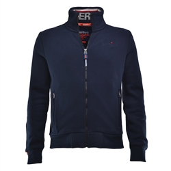 Superdry Orange Label Zipped Top - Navy