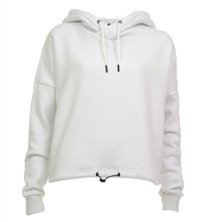 Superdry Elite Crop Hoody - White
